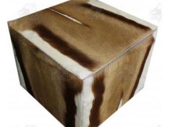 Tergus - peau de springbok - Pouf
