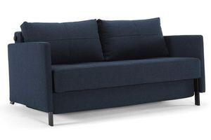 INNOVATION - canapé lit design cubed bleu avec accoudoirs conve - Canapé Lit