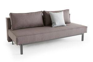 INNOVATION - innovation canape lit design sly gris foncé conve - Banquette Clic Clac