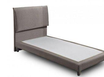 WHITE LABEL - lit design haut de gamme balzac 90*190 cm cuir éco - Lit Simple