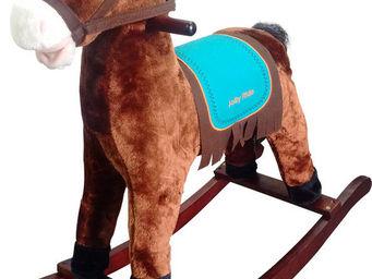 Imagin - cheval � bascule sons petit indien robe fonc�e - Cheval � Bascule