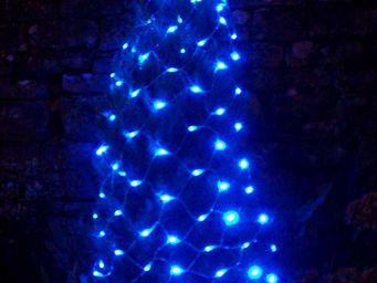 FEERIE SOLAIRE - guirlande solaire 96 leds bleues filet 150x90cm - Guirlande Lumineuse