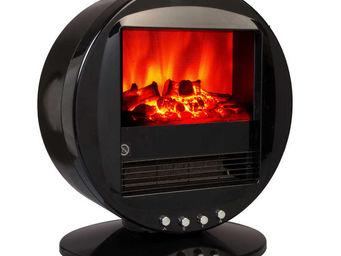 CHEMIN'ARTE - cheminée design fire bowl noire oscillante à 90° 4 - Cheminée Électrique