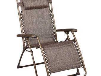 WHITE LABEL - fauteuil de relaxation multiposition - summer - l - Fauteuil De Jardin Pliant