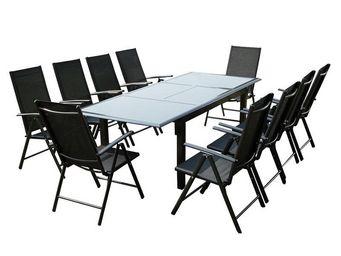 TOUSMESMEUBLES - ensemble table et chaises de jardin - sonkran n�1 - Salle � Manger De Jardin