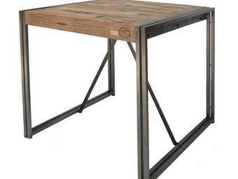 TOUSMESMEUBLES - table mange debout 100 cm� - industry - l 100 x l - Table De Repas Carr�e