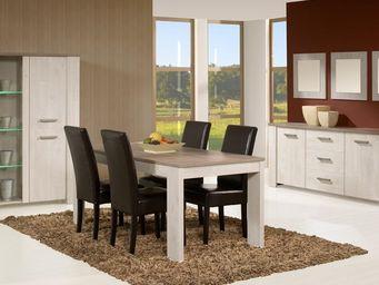 WHITE LABEL - salle à manger complète - humy - l 160 x l 88 x h - Salle À Manger