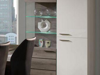 WHITE LABEL - vaisselier 2 portes 3 tiroirs - irys - l 113 x l 4 - Vaisselier