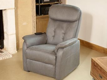 WHITE LABEL - fauteuil relax releveur électrique gris - alicia - - Fauteuil De Relaxation