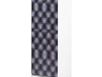 WHITE LABEL - classeur à rideaux blanc - curtain n°6 - l 38 x l - Armoire À Rideaux