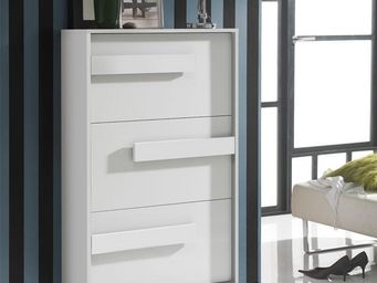 WHITE LABEL - meuble à chaussures blanc - storia n°2 - l 74 x l - Meuble À Chaussures