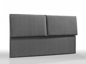 WHITE LABEL - tête de lit haut de gamme royal tweed gris 145 cm  - Tête De Lit