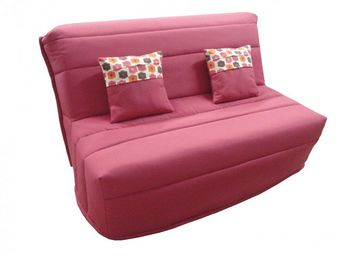 WHITE LABEL - banquette bz convertible axel fuchsia couchage160* - Banquette Bz