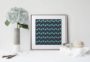 la Magie dans l'Image - print art abstrait fifties celadon - Estampe