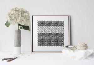 la Magie dans l'Image - print art anis blanc noir 2 - Estampe