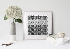 la Magie dans l'Image - print art anis blanc noir 2 - Tableau Décoratif