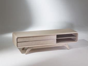 Robin des bois - meuble tv scandinave en chêne, sixty - Meuble Tv Hi Fi