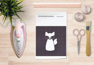 la Magie dans l'Image - papier transfert renard blanc - Transfert