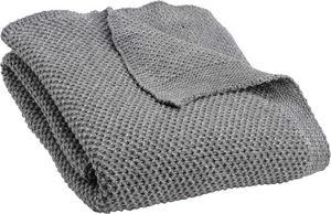 Amadeus - plaid tricot lurex argent - Coussin Carré
