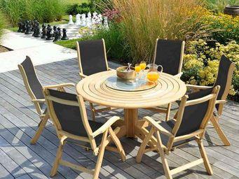 Alexander Rose - lattes circulaires - Table De Jardin Ronde
