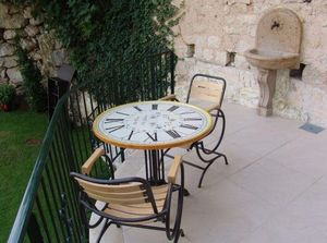 Fd Mediterranee - horloge - Plateau De Table