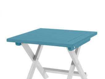 City Green - table d'appoint pliante burano - 45 x 45 x 38 cm  - Table De Jardin Pliante