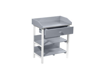 City Green - table de rempotage burano - 45 x 75 x 90 cm - gris - Table De Rempotage