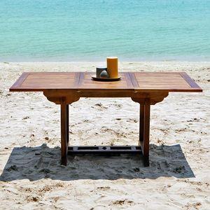 BOIS DESSUS BOIS DESSOUS - table de jardin en bois de teck huilé bali 6/8 pla - Table De Jardin À Rallonges