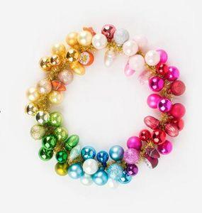 MY LITTLE DAY - boules multicolores - Couronne De Noël