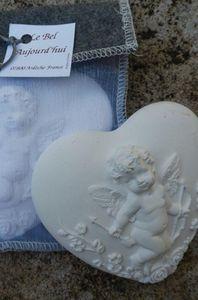 LE BEL AUJOURD'HUI - coeur cupidon - feutre beige - Coeur