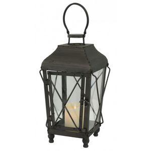 CHEMIN DE CAMPAGNE - lanterne tempête en métal fer 39 cm - Lanterne D'intérieur