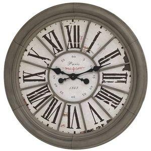 CHEMIN DE CAMPAGNE - grande horloge murale horloge de gare industrielle - Horloge Murale