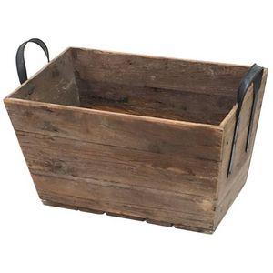 CHEMIN DE CAMPAGNE - casier panier caisse en bois 55x28x32 cm - Casier De Rangement