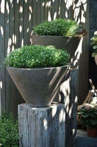 Terracotta d'Arte - konos grigio - Vasque De Jardin