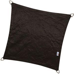 jardindeco - voile d'ombrage carrée coolfit noir - Voile D'ombrage