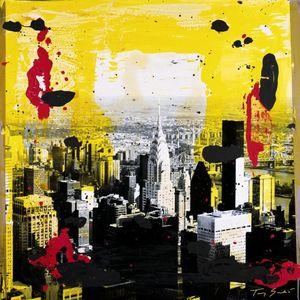 Nouvelles Images - affiche yellow city - Affiche