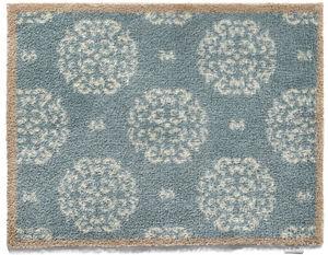 HUG RUG - tapis en fibres naturelles home fleuri 65x150 cm - Paillasson