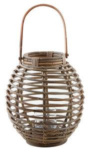Aubry-Gaspard - lanterne en rotin et verre - Lanterne D'extérieur