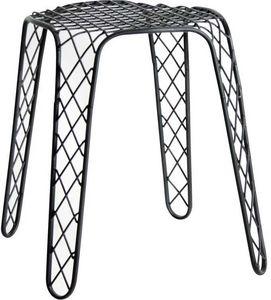 Aubry-Gaspard - tabouret en métal noir antique - Tabouret
