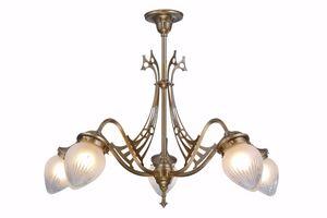 PATINAS - genoa 5 armed chandelier i. - Lustre