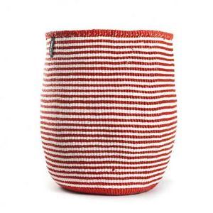 MIFUKO - kiondo à rayures rouges et blanches - Panier De Rangement