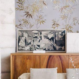 ISIDORE LEROY - bambous doré - Tapisserie