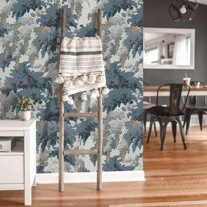 ISIDORE LEROY - papier peint frondaisons - Tapisserie