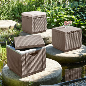 ALLIBERT OUTDOOR -  - Pouf Coffre De Jardin