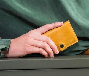 SECRID - miniwallet vintage ochre - Porte Cartes De Crédit