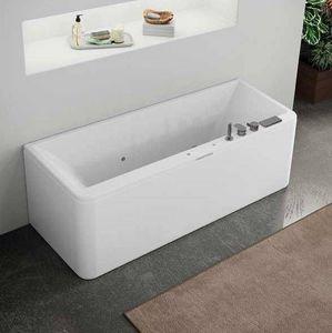 Grandform - bain tourbillon 180x80 hydro minimal slim edge - blanc: poli - taps: avec taps i - Baignoire Balnéo