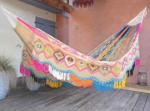 Hamac Tropical Influences - wayuu double face soleil maya - Hamac
