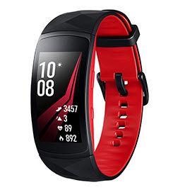 Samsung - gear fit2 pro l noir rouge - Bracelet Connecté