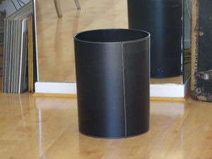 MIDIPY - cuir noir - Corbeille À Papier