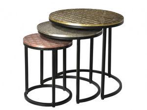 WHITE LABEL - table basse belami - Tables Gigognes